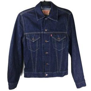 Vintage Levi's 70500 Denim Trucker Jacket Sz Small
